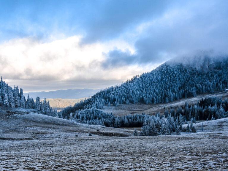 Iarna pe Hășmașul Mare. Ținut al pădurilor înghețate și al peisajelor care îți taie răsuflarea